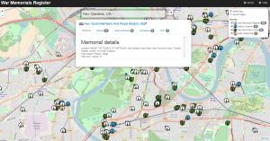 War Memorials maps