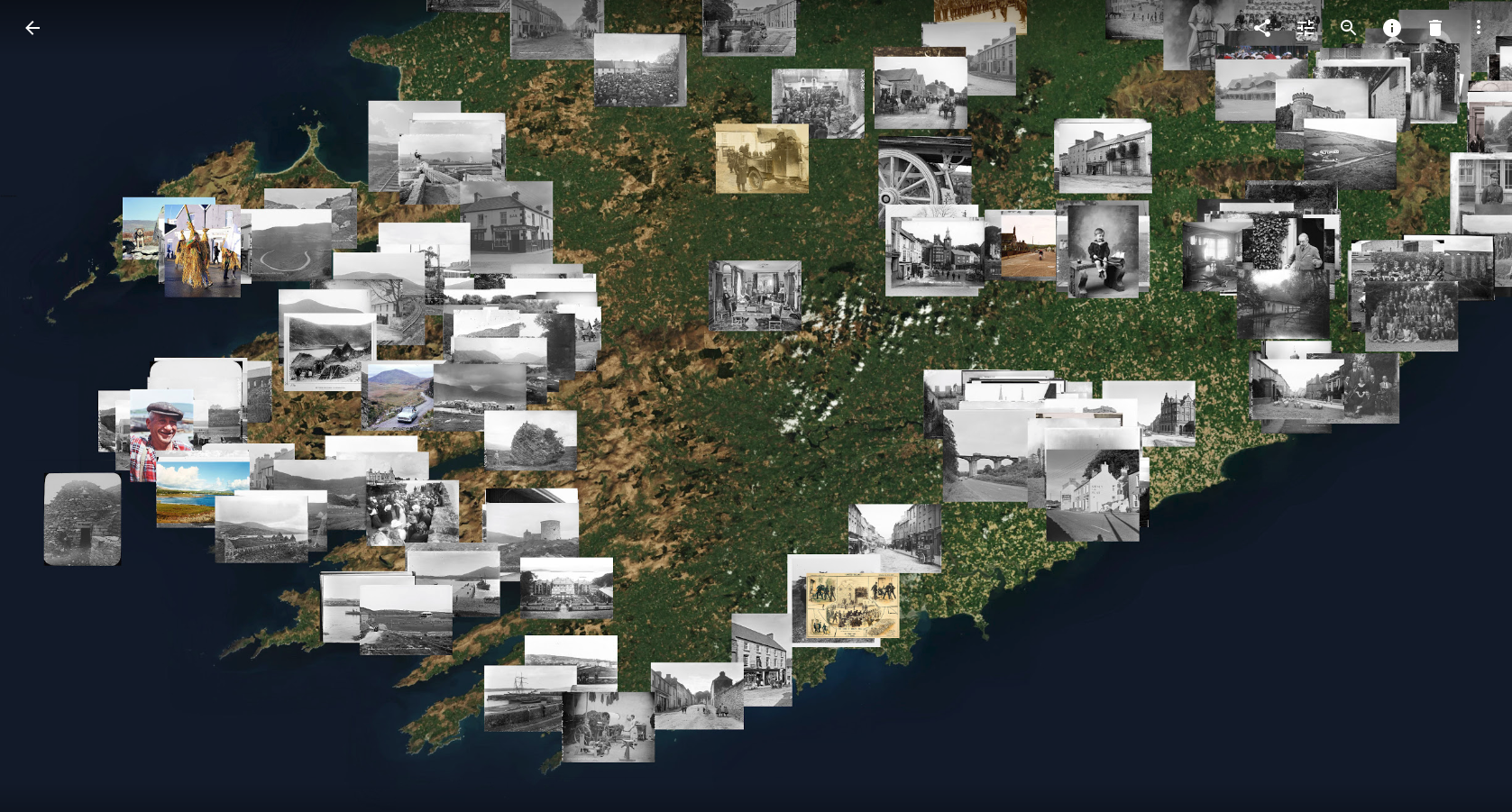 Map of National Library of Ireland images from Flickr Commons