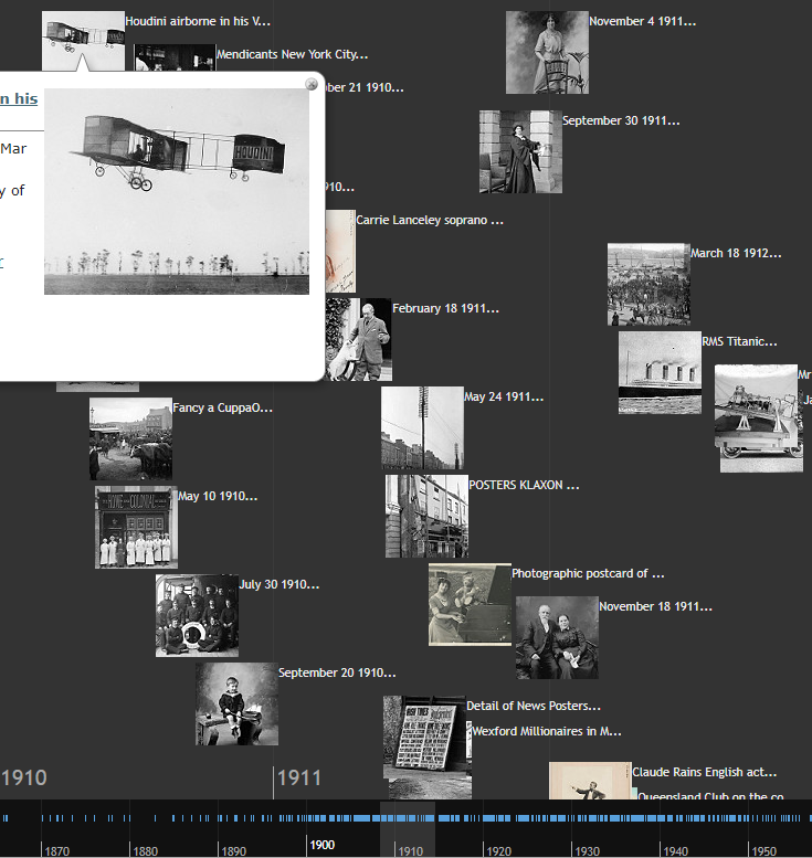 Flickr Commons timeline