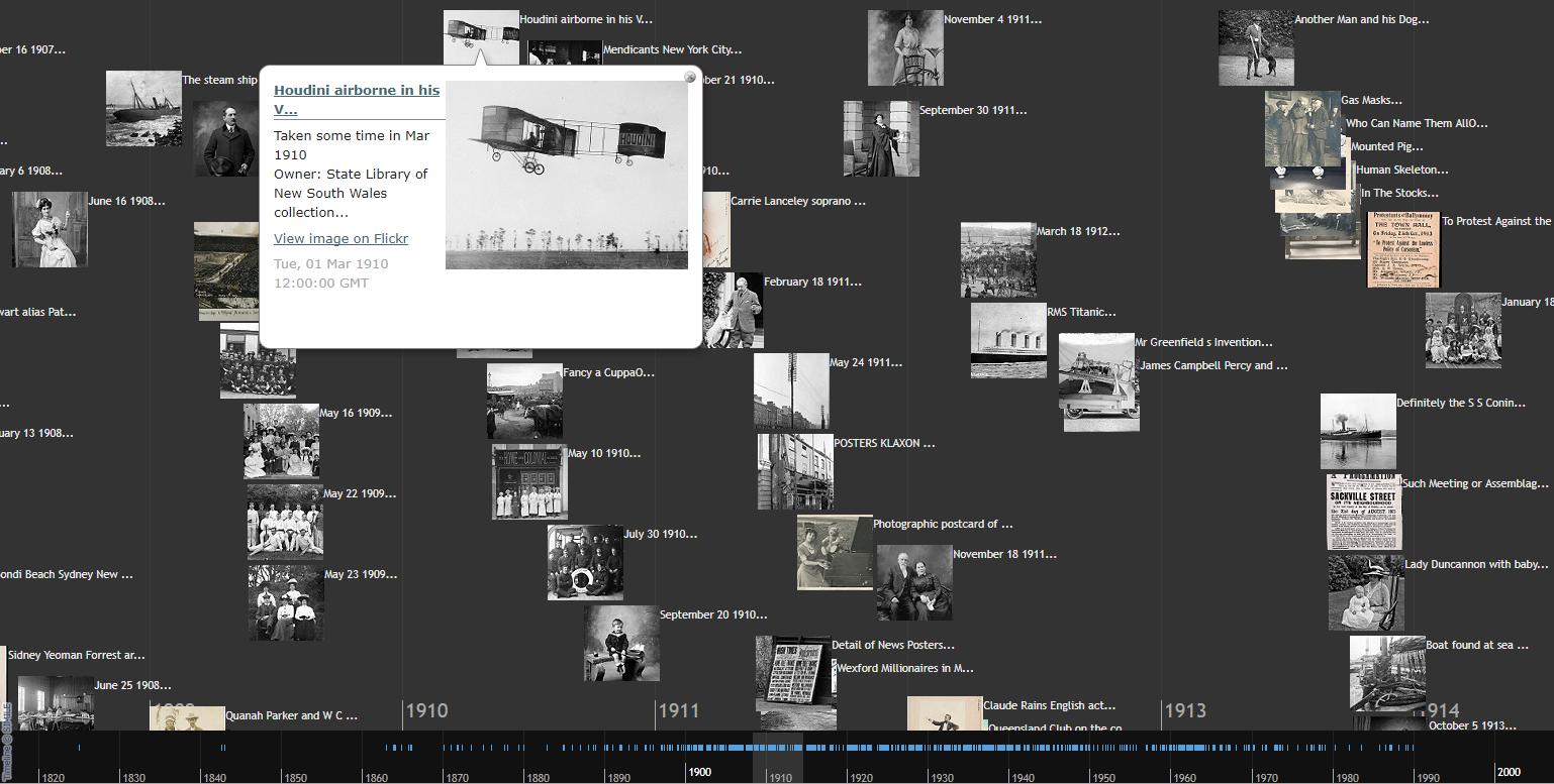 Flickr Commons timeline